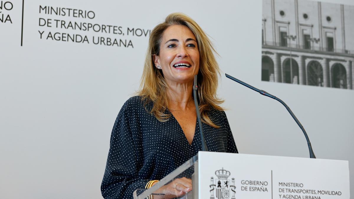 La ministra de Transporte, Movilidad y Agenda Urbana, Raquel Sánchez