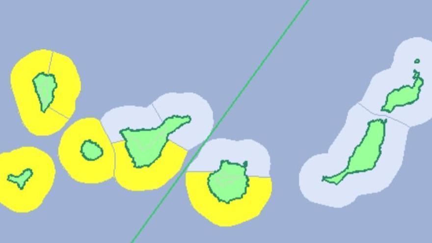 Canarias estará en aviso amarillo por fenómenos costeros adversos el viernes