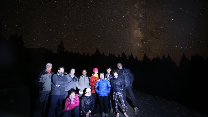 El grupo de alumnos de FotoGasteiz en el viaje a La Palma el pasado año. Foto: Ana Suárez.