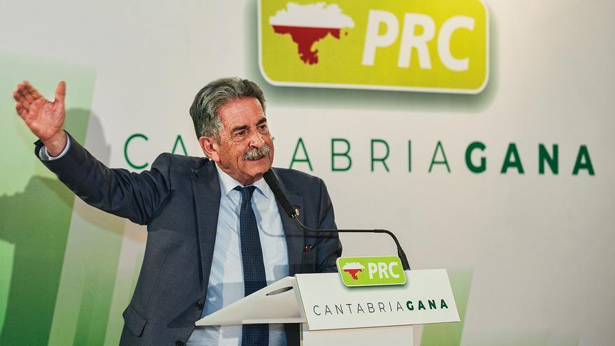 Miguel Ángel Revilla durante un acto de precampaña electoral.