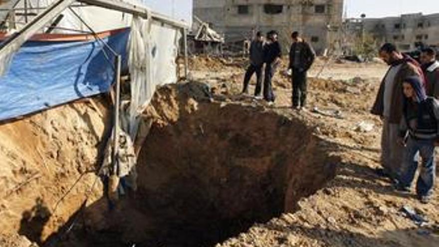 Un palestino muerto por un ataque aéreo israelí en Gaza