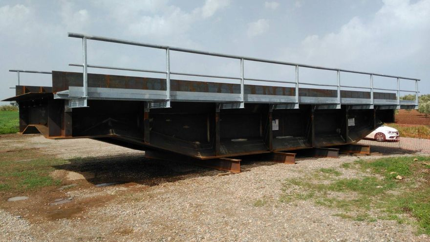 Puente tren Usagre Llerena tablero