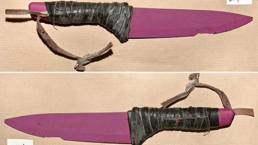 Imagen de los cuchillos utilizados por los terroristas en Londres. Metropolitan Police