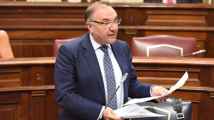 José Manuel Baltar, en una intervención en el Parlamento de Canarias