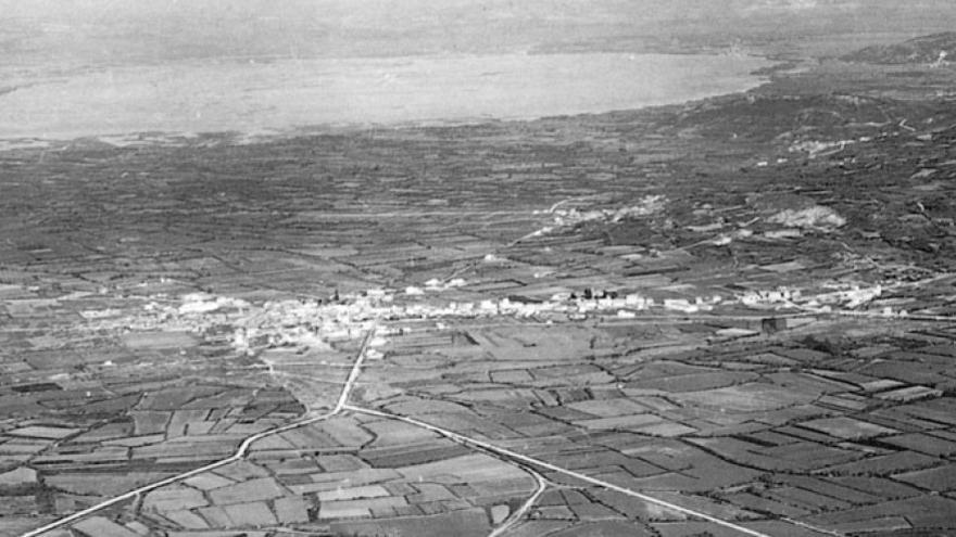Imagen aérea de la Laguna de Antela