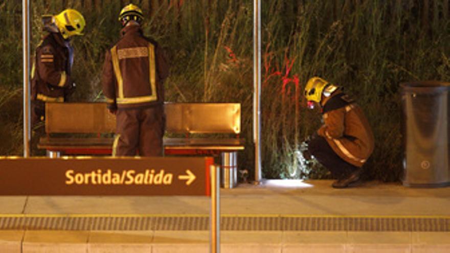 Imagen del accidente de tren en Castelldefels