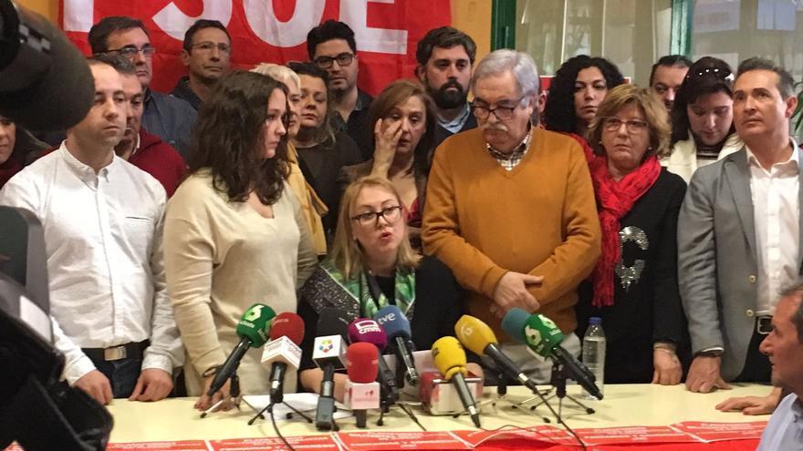 Rueda de prensa de los portavoces de las plataformas de militantes críticos con la gestora