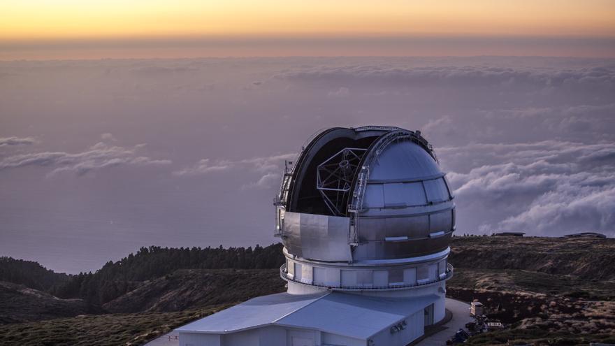 El Gran Telescopio de Canarias, en el Observatorio del Roque de Los Muchachos, en las cumbres de Garafía.