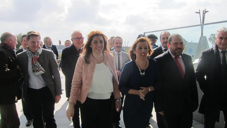 """Díaz acusa a Montoro de atribuirse el crecimiento en Andalucía y de """"hacer negocio"""" con las medidas de liquidez"""