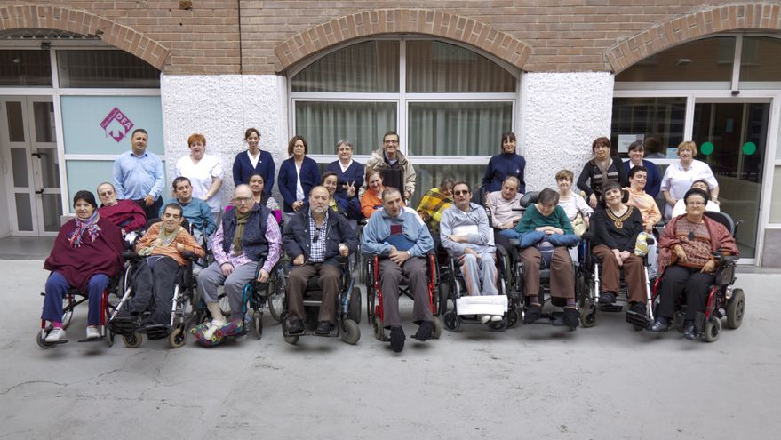 Residentes de un centro de DFA en Zaragoza