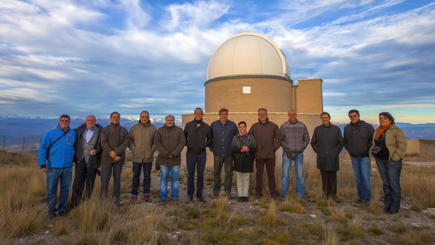 La delegación de La Palma en el Parque Astronómico del Montsec de Lleida.