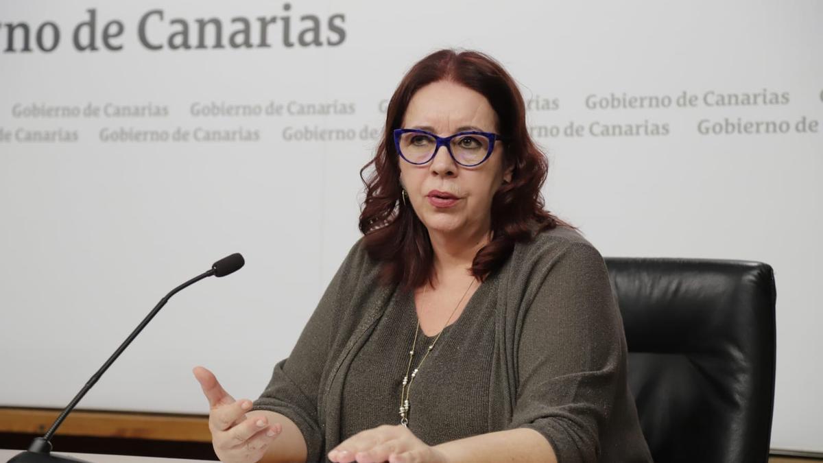 La consejera de Educación del Gobierno canario, Manuela Armas
