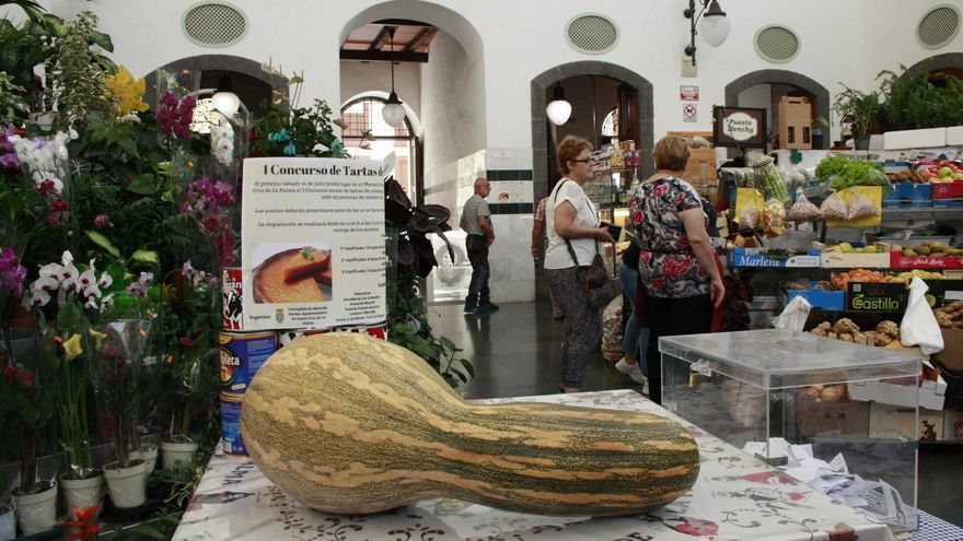 Una calaza en La Recova de Santa Cruz de La Palma.
