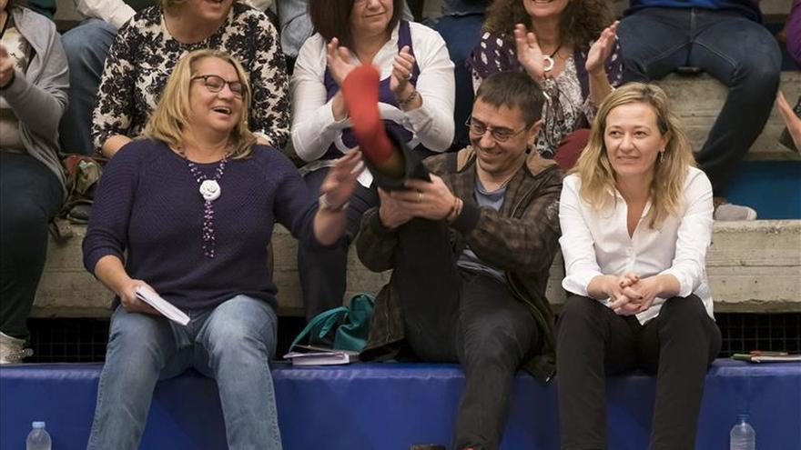 El mitin en calcetines de Juan Carlos Monedero