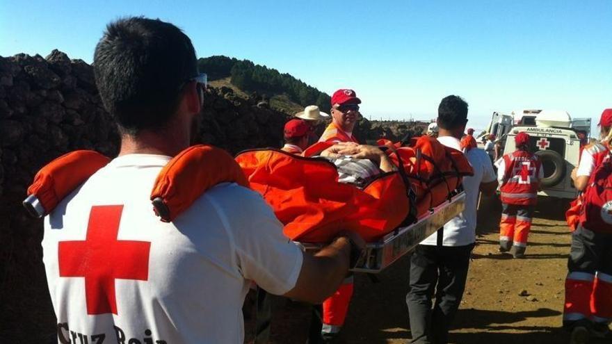 Intervención del equipo de búsqueda, salvamento y rescate en el Parque Nacional del Teide / Foto de Cruz Roja