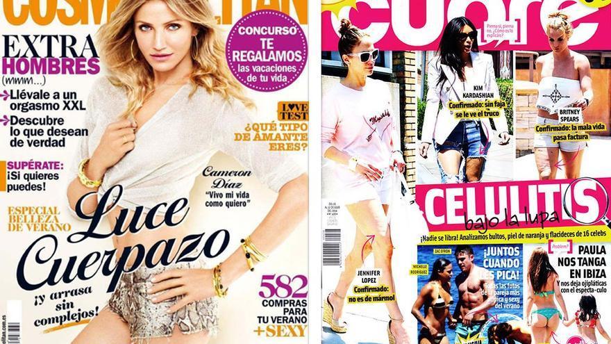 Portadas de revistas dedicadas al público femenino.