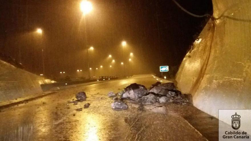Desprendimientos provocados por la lluvia en Las Palmas de Gran Canaria