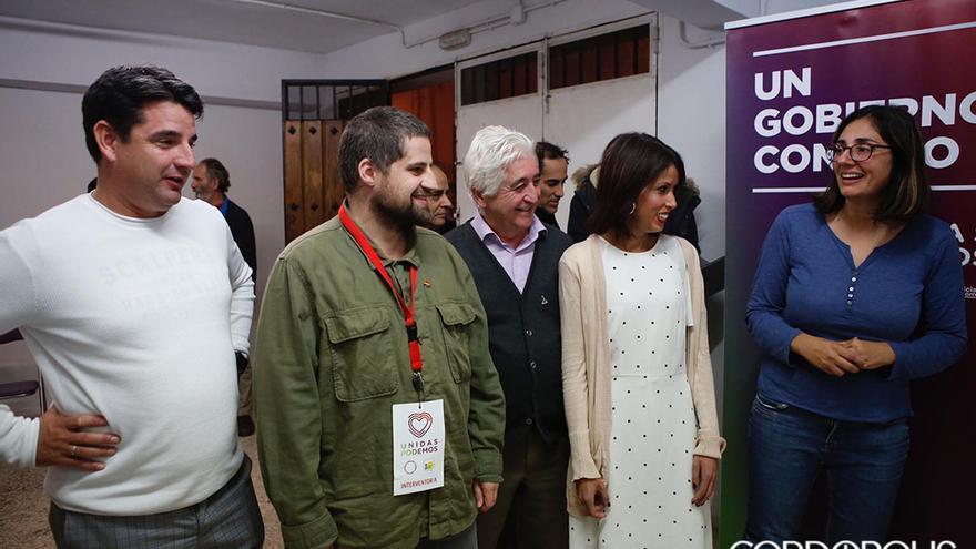 García, Peña, Velarde y Ruiz en la sede de Unidas Podemos | TONI BLANCO