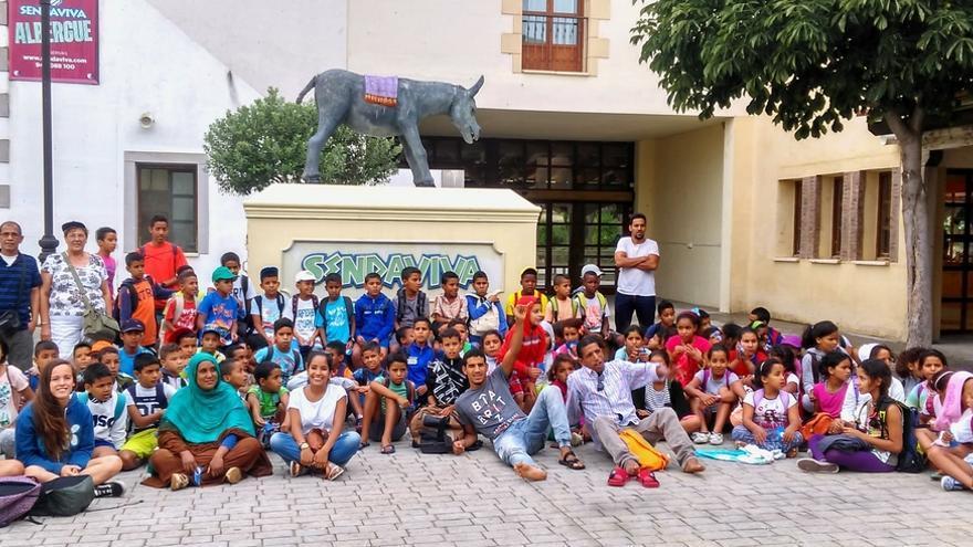 Sendaviva recibe a cerca de 90 niños saharauis que disfrutan del verano en Navarra