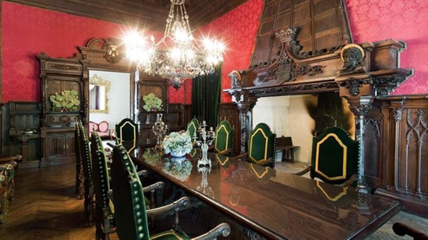 Salón de la casa-palacio del que, dicen, su mobiliario perteneció a Beatriz de Galindo, amiga de Isabel La Católica