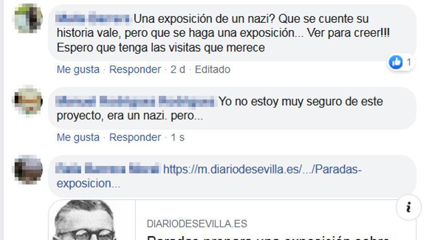 Quejas de usuarios en redes sociales por la exposición del nazi Gottmann.