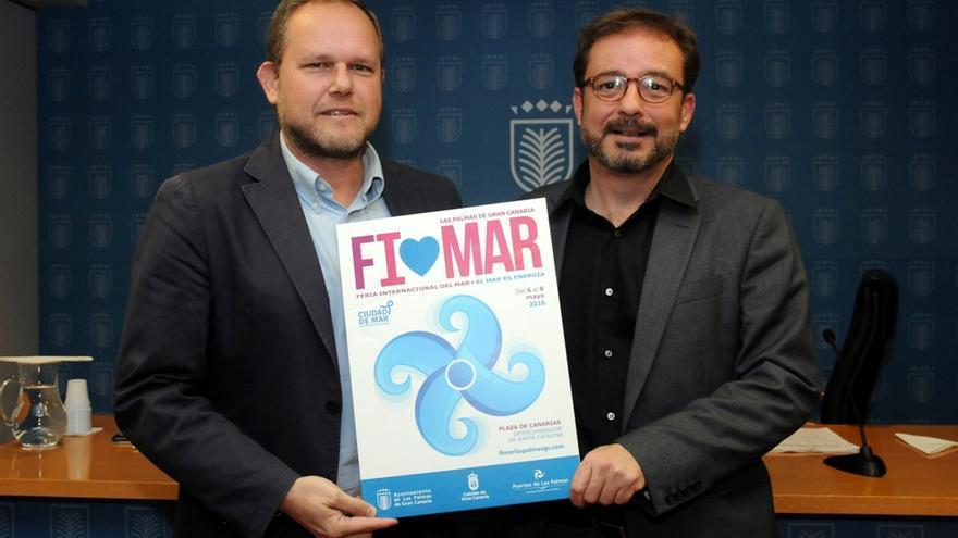 El concejal de Ciudad de Mar del Consistorio, José Eduardo Ramírez, juanto al consejero de Desarrollo Económico, Energía e I+D+I del Cabildo de Gran Canaria, Raúl García Brink.