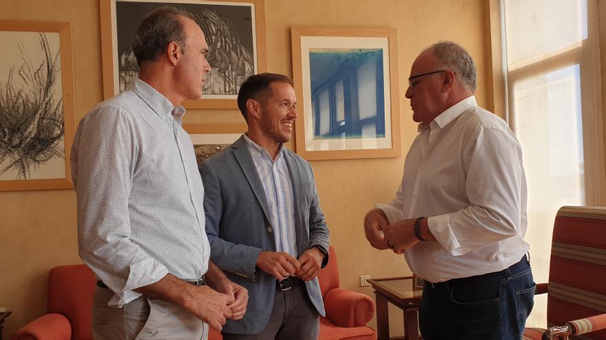 Raúl Camacho, Mariano H. Zapata y Carlos Cabrera, este jueves.