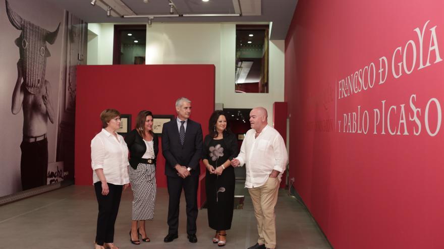 Inauguración de la exposición La Tauromaquia, organizada por la Obra Social de la Fundación Ibercaja.