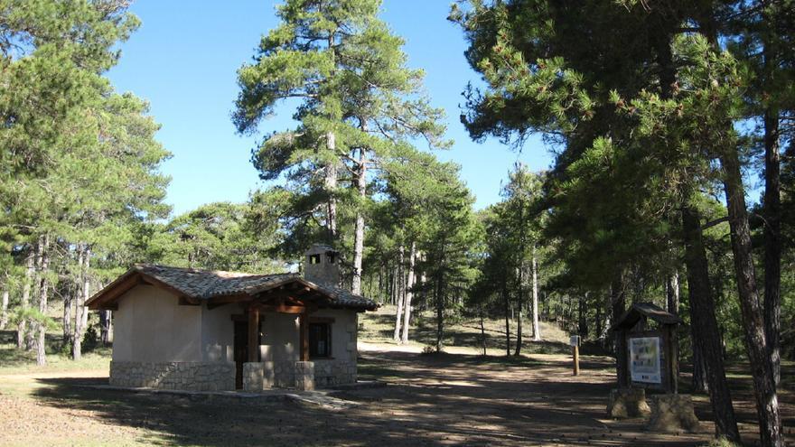 Punto de información en Los Palancares (Cuenca)