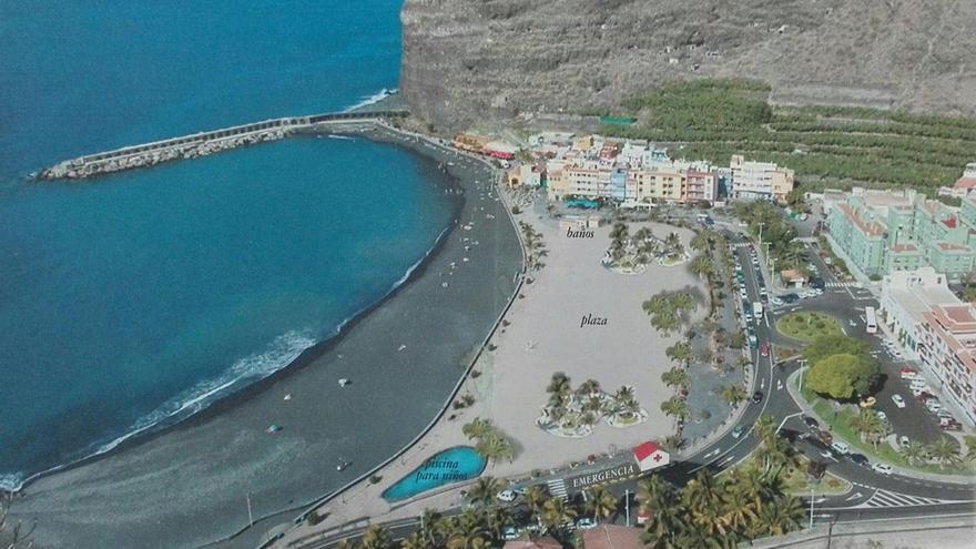 Playa y barrio de El Puerto de Tazacorte.