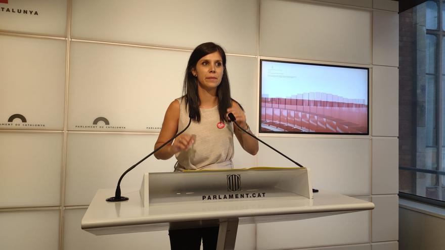 La secretaria general adjunta y portavoz de ERC, Marta Vilalta, en rueda de prensa