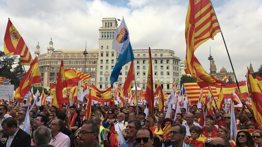 Unos 65.000 manifestantes para conmemorar el 12-O en Barcelona según el Ayuntamiento