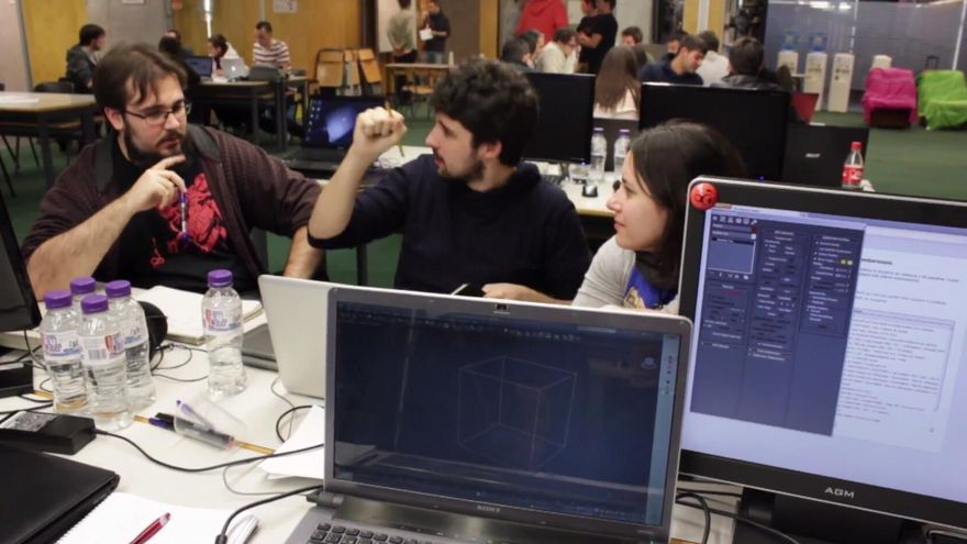 El equipo de Deconstructeam en la Gandia Game Jam (Foto: Deconstructeam)