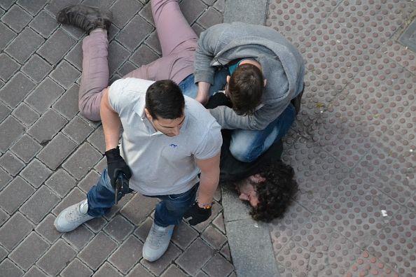 Momento de la detención | Foto: Somos Malasaña