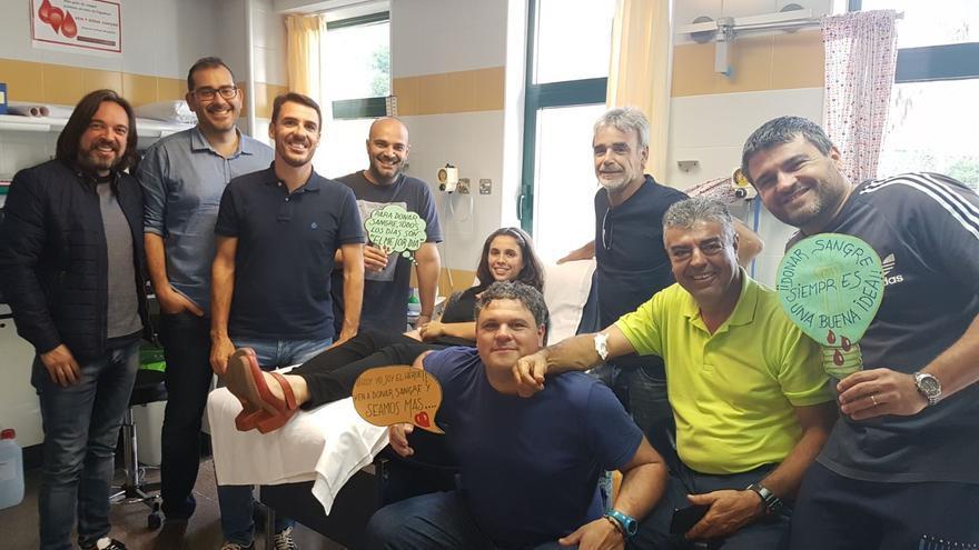 Los componentes del grupo musical Parranda La Palma se han sumado a la campaña 'Dona Sangre La Palma'.