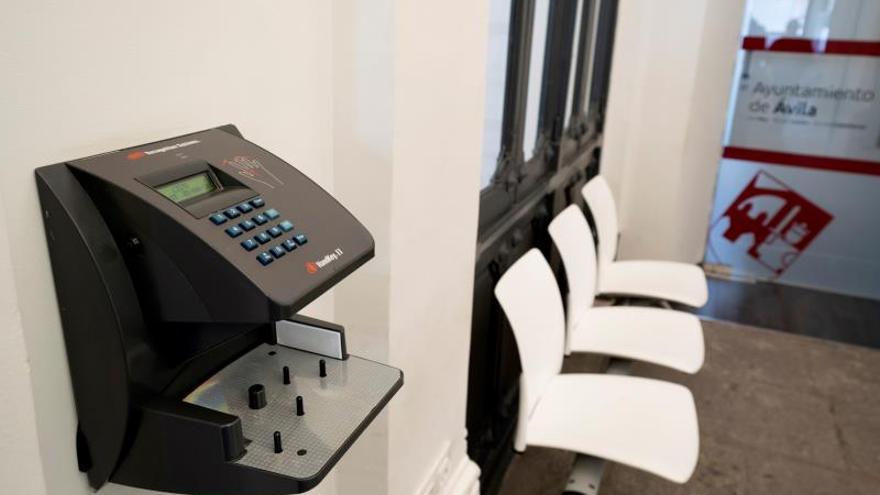 Dispositivo para el registro de los trabajadores.