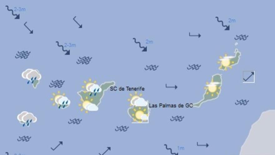 Mapa con la previsión meteorológica para este jueves, 4 de mayo de 2017