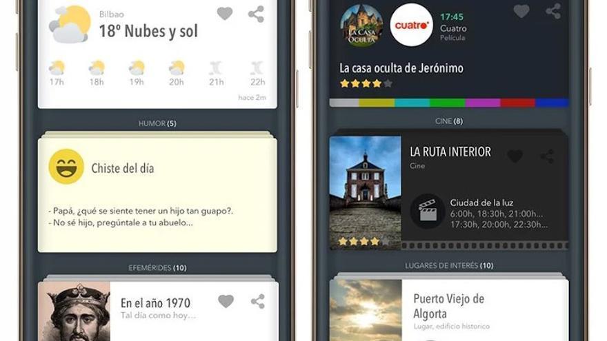 Sherpa es un asistente virtual predictivo que ofrece información en forma de tarjetas o fichas