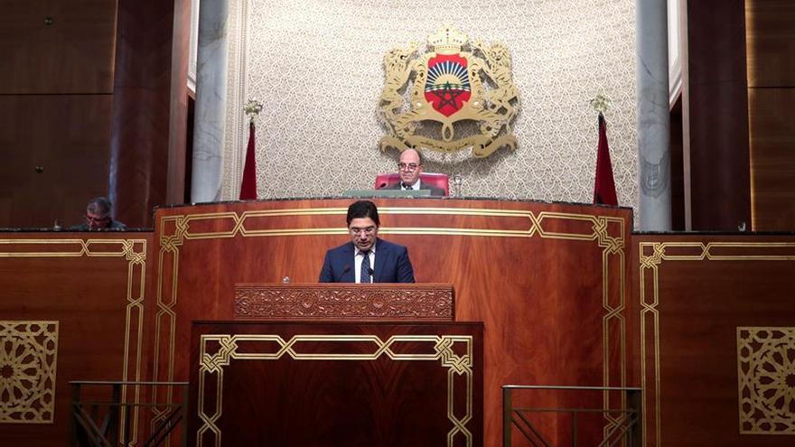 El ministro de Exteriores, Naser Burita, durante su comparecencia ante la Cámara de Consejeros de Marruecos