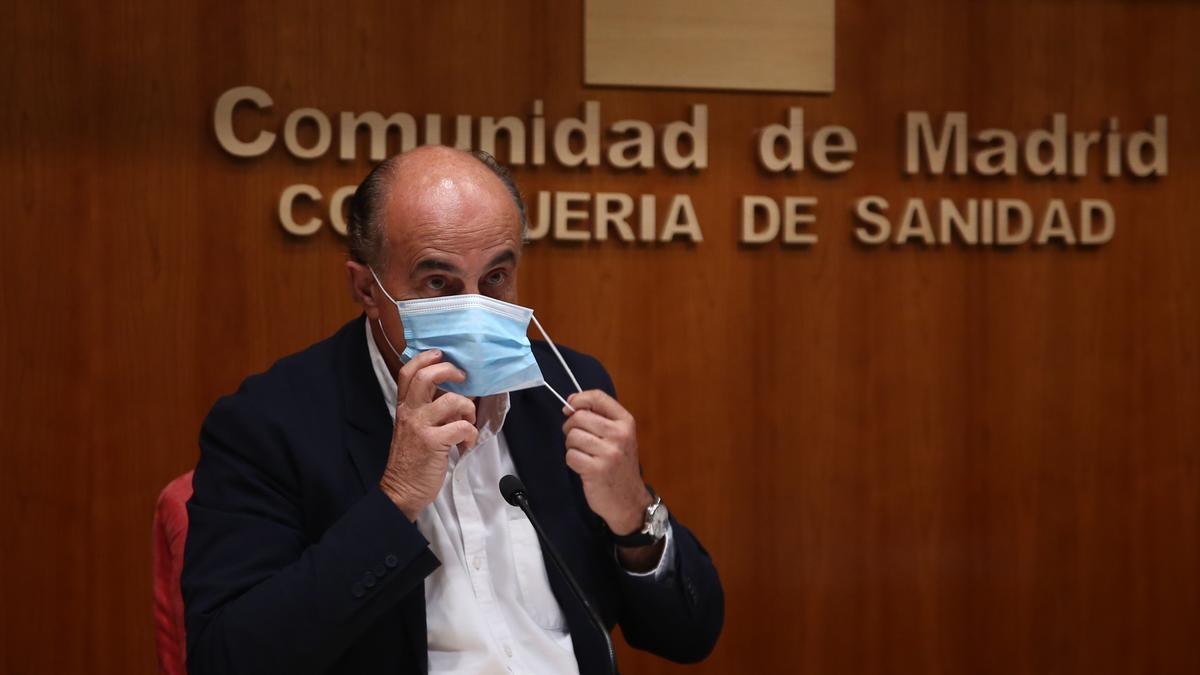 El viceconsejero de Salud Pública y Plan COVID-19 de la Comunidad de Madrid, Antonio Zapatero.