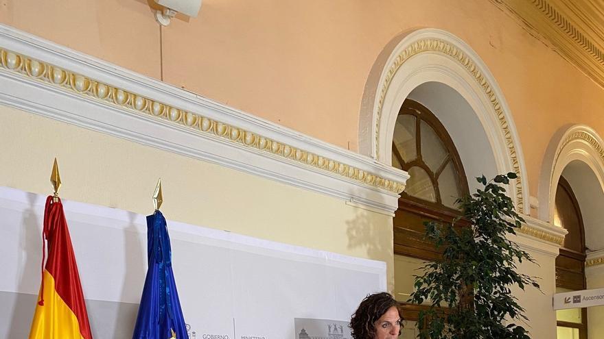 La consejera de Desarrollo Rural y Medio Ambiente, Itziar Gómez, comparece tras la reunión de la Conferencia Sectorial de Agricultura y Desarrollo Rural
