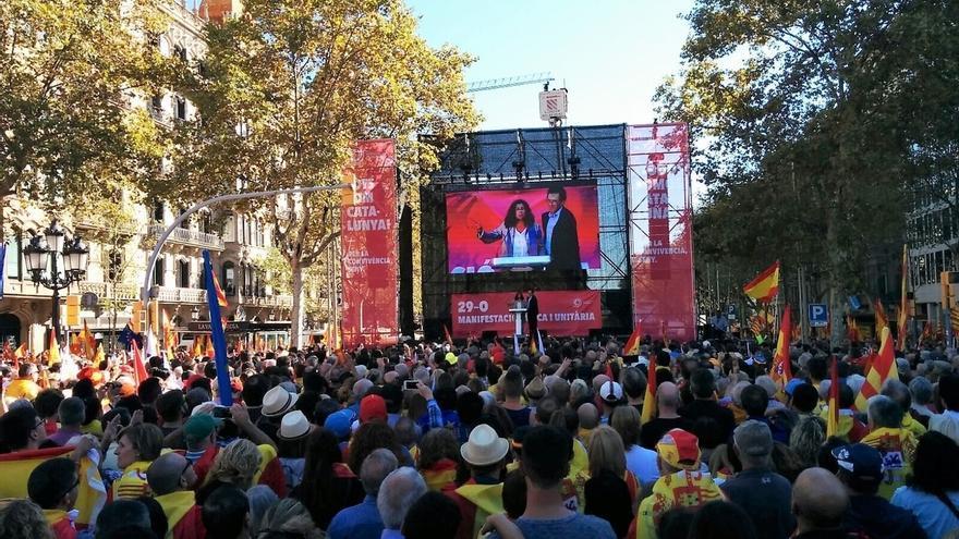 La Guardia Urbana de Barcelona cifra en 300.000 los manifestantes contra la independencia