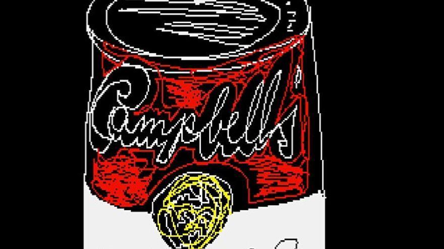 El único Warhol de la serie Campbel hecho con ordenador
