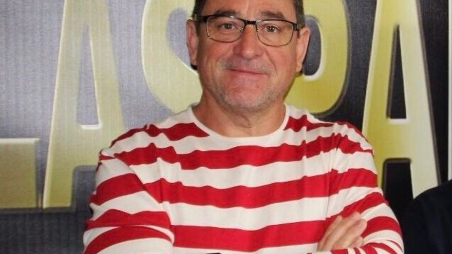 Salvador Alba, fotografiado en Radio Las Palmas.