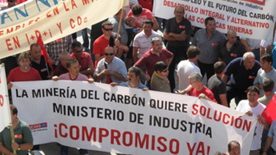 Movilización de los mineros.