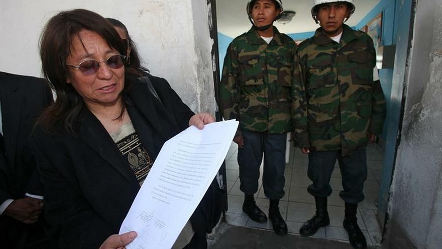 Olga Flores, hermana de Juan Carlos Flores que desapareció el 17 de julio de 1980 durante la dictadura de Luis García Meza (1980-1981).
