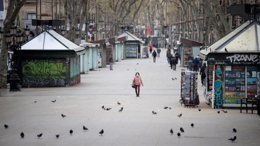 La Rambla de Barcelona, este lunes