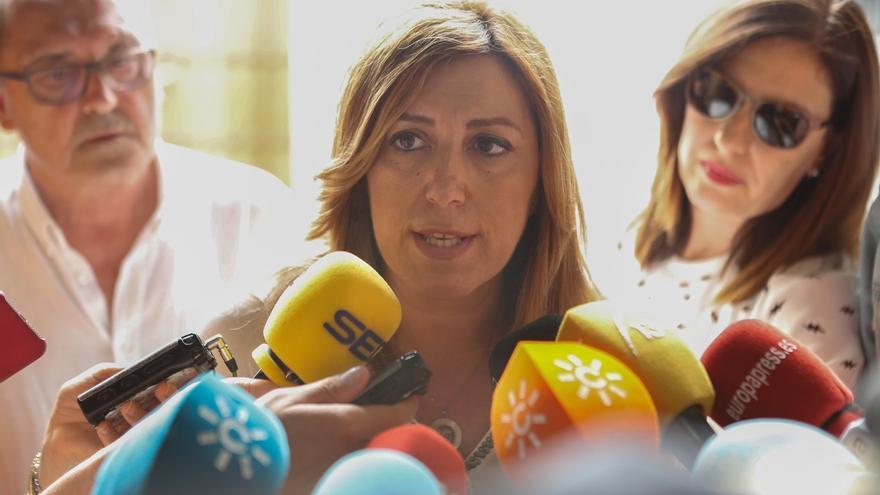 """Susana Díaz: """"Todos estamos con Pedro, se acabaron los bandos y que los militantes participen libremente en asambleas"""""""