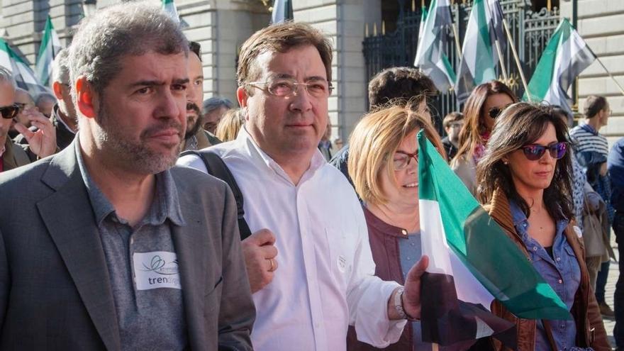 Vara eleva a 40.000 los asistentes a la protesta por el tren y acusa a la Delegación del Gobierno en Madrid de mentir