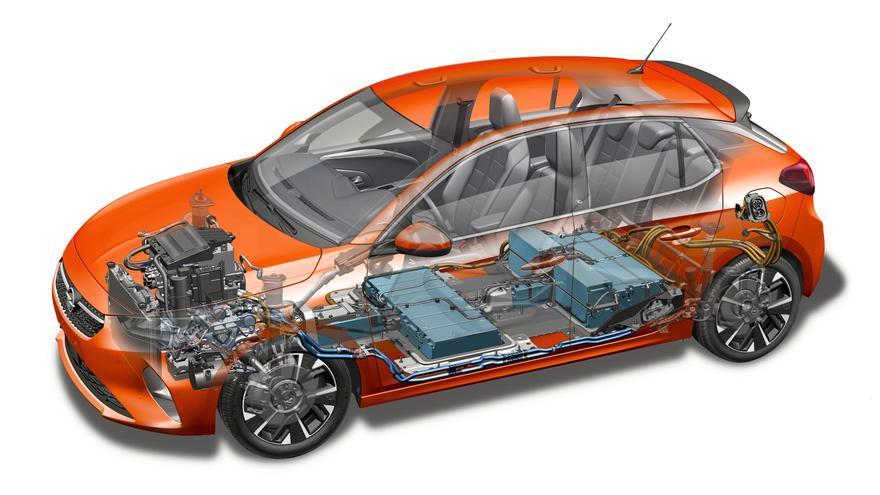 El Opel Corsa-e cuenta con una batería de iones de litio de 50 kWh.